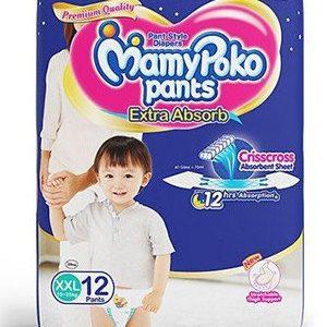 Mamy Poko Pants Style Diapers -Xxl, 15-25 Kg, 12 pcs Pouch