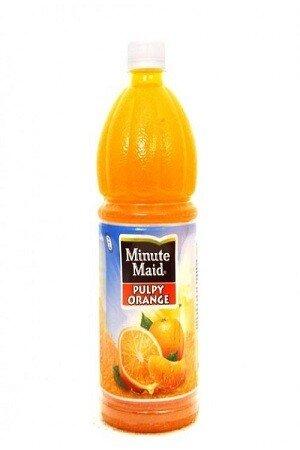 Minute Maid Fruit Drink Pulpy Orange 1 Litre Bottle