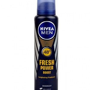 Nivea Men Deodorant Fresh Power Boost 48 H 150 Ml Bottle