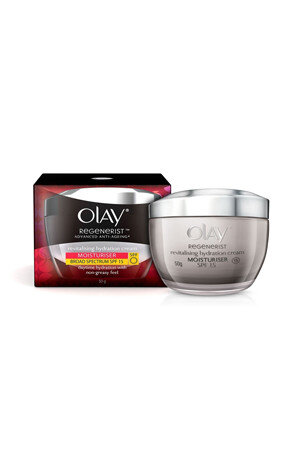 Olay Skin Cream Anti Ageing Revitalising Hydration Regenerist Advanced Day Cream 50 Grams Bottle
