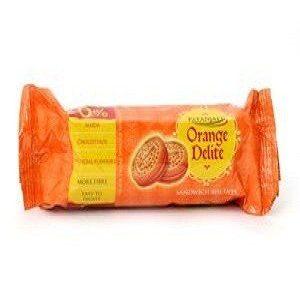 Patanjali Sandwich Biscuits – Orange Delite, 75 gm