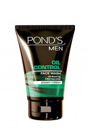 Ponds Face Wash Men Oil Control 100 Grams Tube Bright Fresh