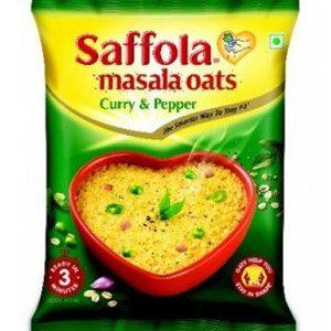 Saffola Oats – Curry & Pepper, 40 gm Pouch