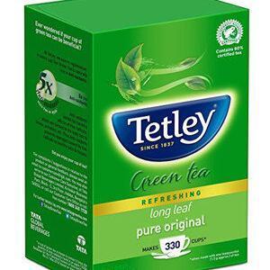 Tetley Green Tea Long Leaf 250 Grams Carton