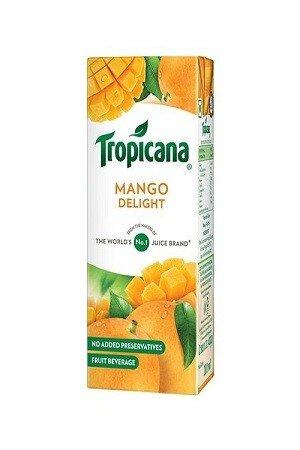Tropicana Delight Fruit Juice Mango 200 Ml Carton