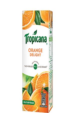 Tropicana Delight Fruit Juice Orange 200 Ml Tetra