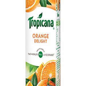 Tropicana Delight Fruit Juice Orange 200 Ml Tetra Pack of 30
