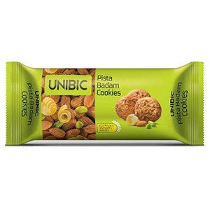 Unibic Cookies – Pista Badam, 75 gm Pouch