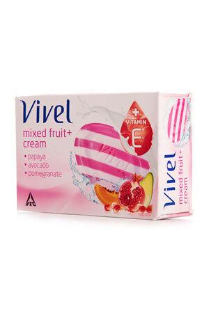Vivel Bathing Soap Mixed Fruit Cream 100 Grams